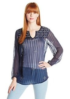 Lucky Brand Women's Floating Embroidered Top