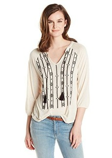 Lucky Brand Women's Geo Embroidery Top