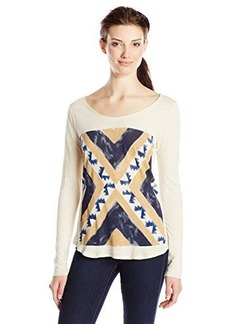 Lucky Brand Women's Geo Flag Tee