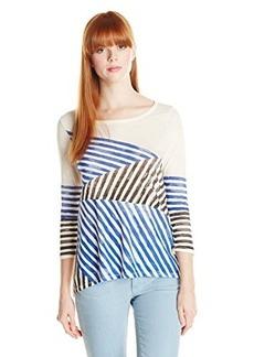 Lucky Brand Women's Geo Stripe Tee