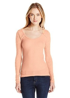 Lucky Brand Women's Ginny Lace Thermal Top