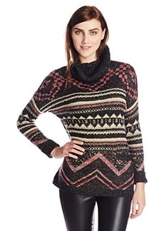 Lucky Brand Women's Graphic Cowl Pullover Sweater