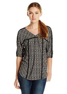 Lucky Brand Women's Hayley Geo Print Top