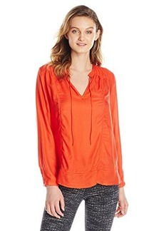 Lucky Brand Women's Holiday Peasant Top