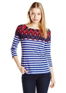Lucky Brand Women's Ikat Boatneck Top