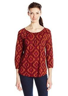 Lucky Brand Women's Ikat Print Top