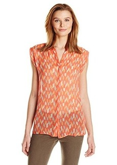 Lucky Brand Women's Ikat-Printed Shell Blouse