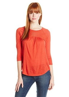 Lucky Brand Women's Inset Lace Top