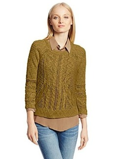 Lucky Brand Women's Ivy Mixed Stitch Sweater