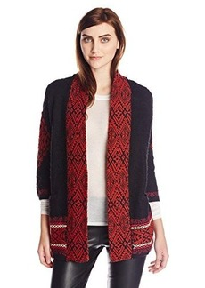 Lucky Brand Women's Jacquard Sweater Coat