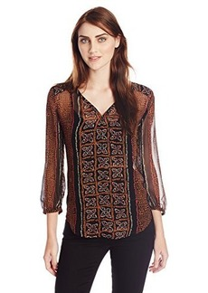 Lucky Brand Women's Kaylee Peasant Top