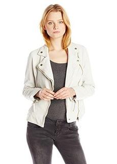 Lucky Brand Women's Leather Moto Jacket