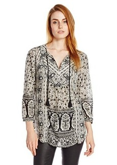 Lucky Brand Women's Lelah Floral Tunic Top