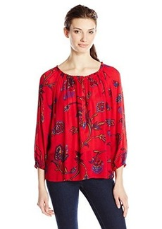 Lucky Brand Women's Londynn Printed Peasant Top