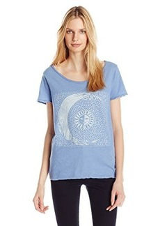 Lucky Brand Women's Lotus Sketched Moon Tee