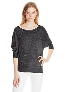 Lucky Brand Women's Lotus Solid Burnout Top