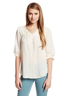 Lucky Brand Women's Madelynn Embroidered Top
