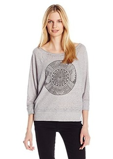 Lucky Brand Women's Lotus Medallion Graphic Top
