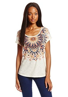 Lucky Brand Women's Medallion Necklace Tee