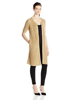 Lucky Brand Women's Metallic Ribbed Sweater