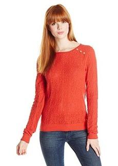 Lucky Brand Women's Modern Pointelle Pullover
