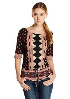 Lucky Brand Women's Nyla Cinched Top