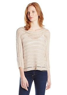 Lucky Brand Women's Open Stitch Poncho Sweater