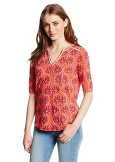 Lucky Brand Women's Paisley Floral Top