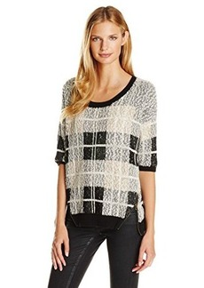 Lucky Brand Women's Plaid Pullover Sweater