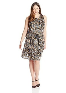 Lucky Brand Women's Plus-Size Allover Printed Dress