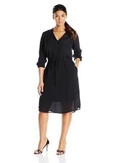 Lucky Brand Women's Plus-Size Black Shirt Dress