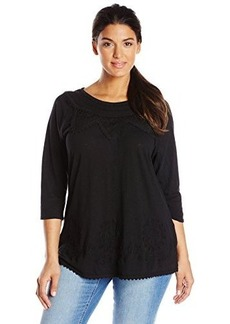 Lucky Brand Women's Plus-Size Embellished Top