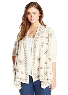 Lucky Brand Women's Plus-Size Embroidered Wrap Jacket