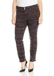 Lucky Brand Women's Plus-Size Emma Straight Jean In Grey Camo