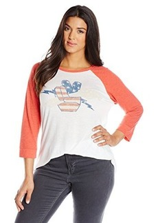 Lucky Brand Women's Plus-Size Fender Rock On Raglan Tee