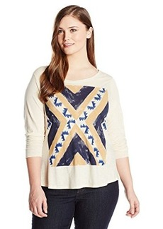 Lucky Brand Women's Plus-Size Geo Flag Tee