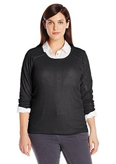 Lucky Brand Women's Plus-Size Ginny Lace Thermal Top