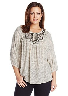 Lucky Brand Women's Plus-Size Lilah Mirror Top