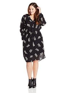 Lucky Brand Women's Plus-Size Printed Shirt Dress