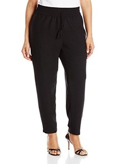 Lucky Brand Women's Plus-Size Solid Black Pant