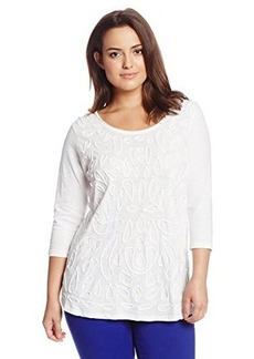 Lucky Brand Women's Plus-Size Soutache Tee
