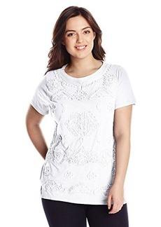 Lucky Brand Women's Plus-Size Soutache Top