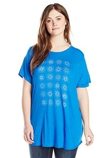 Lucky Brand Women's Plus-Size Star Grid Tee