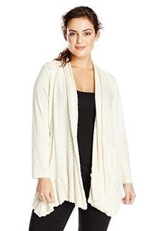 Lucky Brand Women's Plus-Size Sweater Yoke Wrap Sweatshirt
