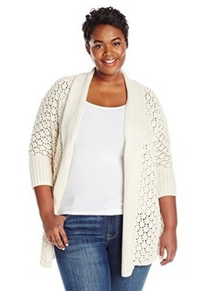 Lucky Brand Women's Plus-Size Textured Cocoon Cardigan