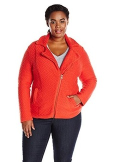 Lucky Brand Women's Plus-Size Textured Sweater Coat