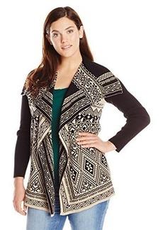 Lucky Brand Women's Plus-Size Waterfall Cardigan Sweater