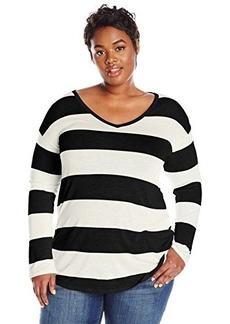 Lucky Brand Women's Plus-Size Wide Stripe Top