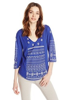 Lucky Brand Women's Redondo Embroidered Top