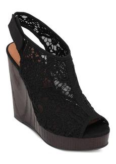 Lucky Brand Women's Rezdah2 Crochet Platform Wedge Sandals